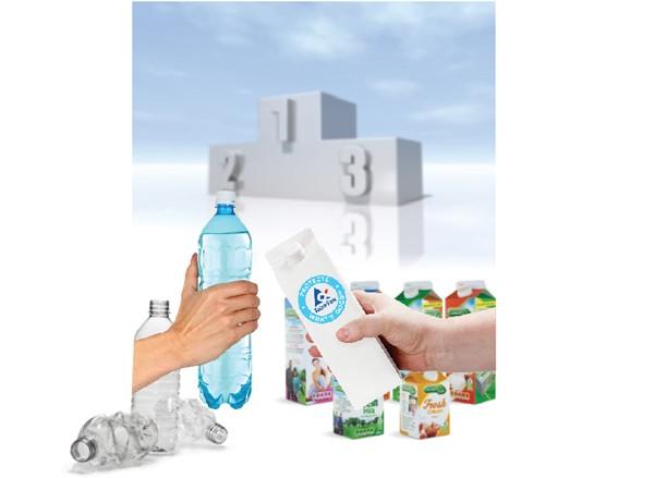 塑料瓶市场: 范企业, 两个标签